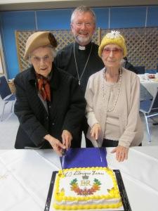 Cutting the Jubilee cake