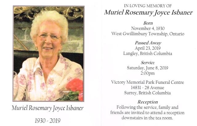 Joyce Isbaner 1930-2019